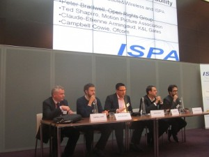 That's me chairing a discussion at an ISPA conference in 2011 on the Digital Economy Act